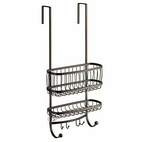 InterDesign York Lyra Bathroom Over The Door Shower Caddy for ...