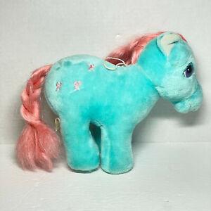 Hasbro Softies My Little Pony Blue Pink Mane Horse Plush Toy Vintage MLP