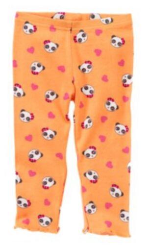 Gymboree Panda Academy 3T Orange Panda Face Leggings 11