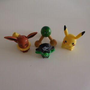 Lot-de-4-figurines-personnages-PIKACHU-POKEMON-ROVIO-vintage-collection