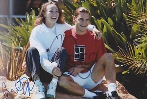 ROGER-FEDERER-und-MARTINA-HINGIS-Foto-20x30-signiert-IN-PERSON-Autogramm-signed