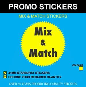 Actif Mix & Match - Noir & Jaune - 41mm Starburst Autocollants