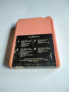 * PLAY TESTED 8 Track TAPE  VG++ LED ZEPPELIN SELF-TITLED PINK RARE * TP8216