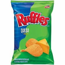 Frito Lay, Sabritas, Ruffles, Queso Cheese Potato Chips, 6.5oz Bag (Pack of 3)