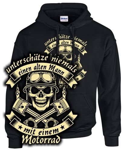 Saying Sottovaluta Motorcycle Niemla Skull Felpa Biker Old Man An Sanwq
