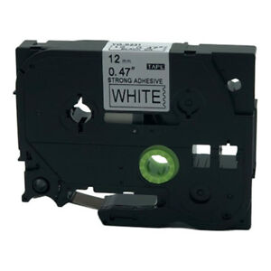 2PK Label Tape TZ TZe-S231 Extra Strength Black on White for Brother P-touch