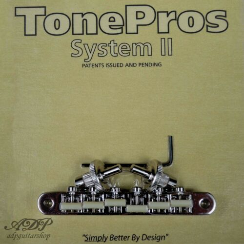 TonePros NVR2G-N Chevalet Nashville ABR-narrow Nylon66saddle Tune-O-Matic Bridge
