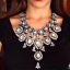 Ladies-Fashion-Crystal-Pendant-Choker-Chain-Statement-Chain-Bib-Necklace-Jewelry thumbnail 8