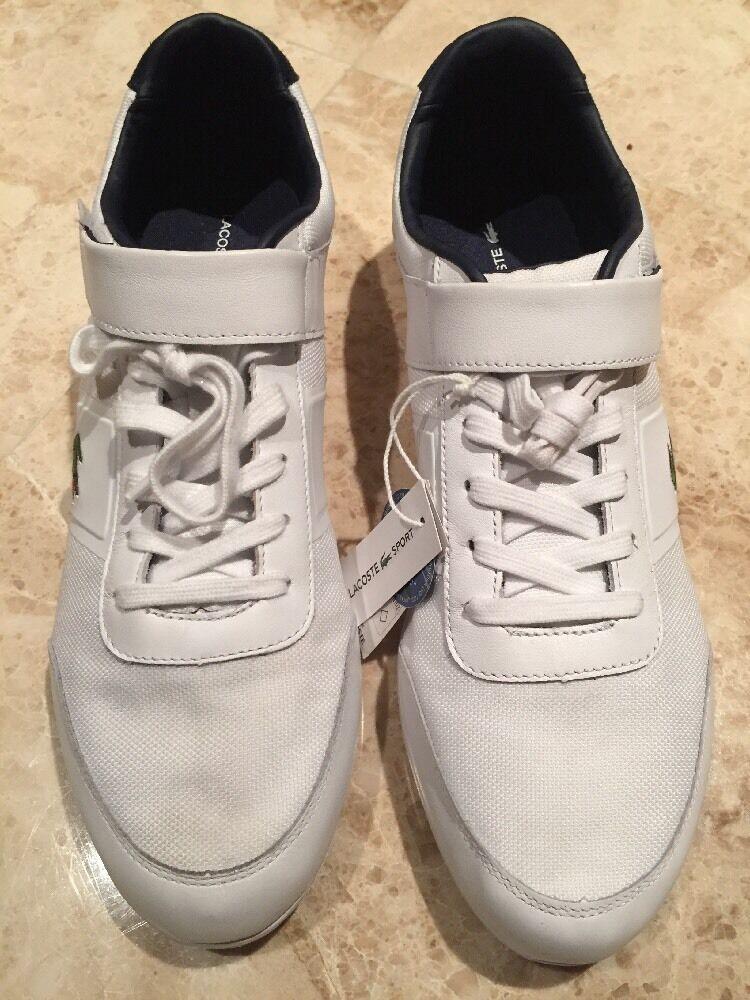 Lacoste White Men Sneakers NWT Size 12