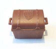 PLAYMOBIL (1104) Coffre au Trésor Marron avec Armoiries 3550 3542 3570 Vintage