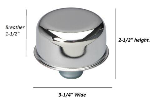 Chrome Valve Cover Breather Grommet  PCV Valve PONTIAC SYMBOL LOGO 64-81 NEW