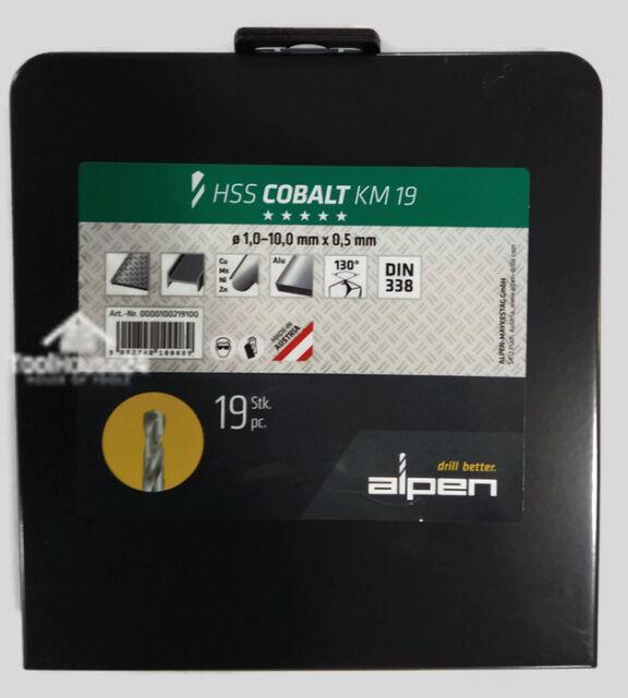 Alpen 62700680100 Jobber Drills Hss-Eco Din 338 Fort Alunit 6 8mm