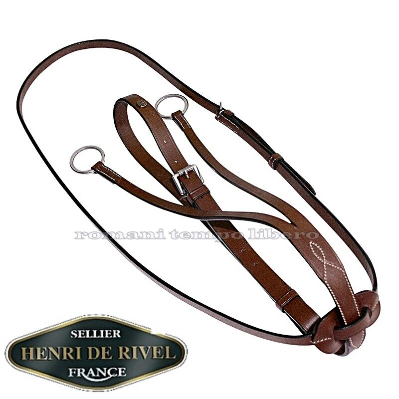 Martingale à Collier Cuir Réglable Henri de Rivel Running Martingale