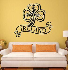 wall sticker ireland irish shamrock mascot art mural vinyl map of ireland wall sticker wall art com