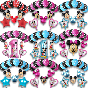 DISNEY-MICKEY-MINNIE-MOUSE-COMPLEANNO-PALLONCINI-BABY-SHOWER-SESSO-rivelare-Rosa-Blu
