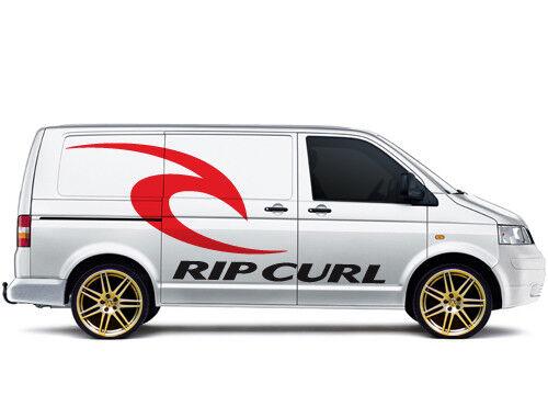VW Volkswagen transporteur 018 Campervan Rip Curl Surf Wave Stickers Graphics