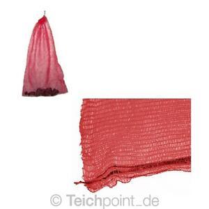 Netzsack f r filtermaterial rot 50 x 80 cm koi teich for Teich 80 cm tief