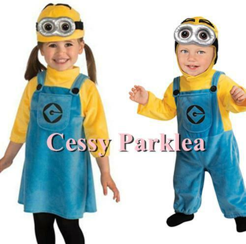 F4-4 Boys /& Girls Minion Dave Despicable Me Book Week Party Costumes
