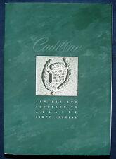 Prospekt brochure 1993 Cadillac Seville * Eldorado * Allante * Sixty Special (D)