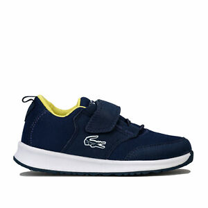 Lacoste-Junior-Boys-L-ight-Amorti-Baskets-En-Bleu-Marine