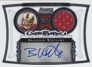 BRANDON-WILLIAMS-RC-2006-BOWMAN-STERLING-JERSEY-AUTO-BSBW-FB4228