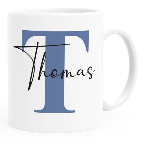 Namenstasse personalisierte Kaffee-Tasse mit Namen und Buchstabe persönliche