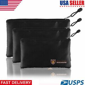 US-Fireproof-Bag-Money-Wallet-Document-Passport-Cash-Card-Battery-Bag-Waterproof