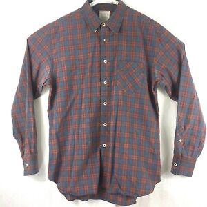 BILLY-REID-Mens-Red-amp-Blue-Plaid-Standard-Cut-Button-Up-L-S-Shirt-XLarge-XL