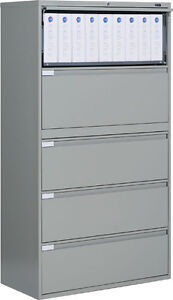 Image Is Loading Metal 5 Drawer Lateral File Cabinet Office Furniture