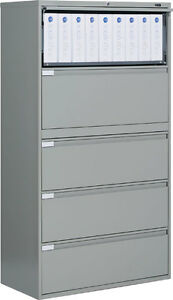 Lovely Image Is Loading Metal 5 Drawer Lateral File Cabinet Office Furniture