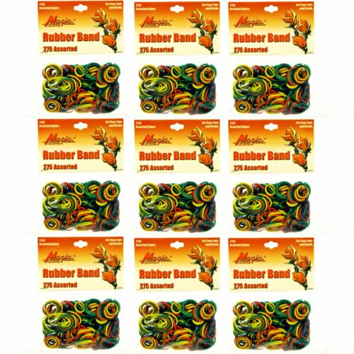 Hair Rubber Bands 2475 pcs Magic Brand Multi-Color/_61-020x9 9 bags x 275//ea