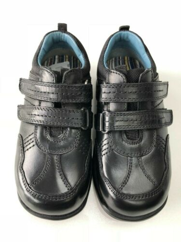 Hush Puppies Hail Black Leather School Shoe /& Insoles For Widths E F /& G