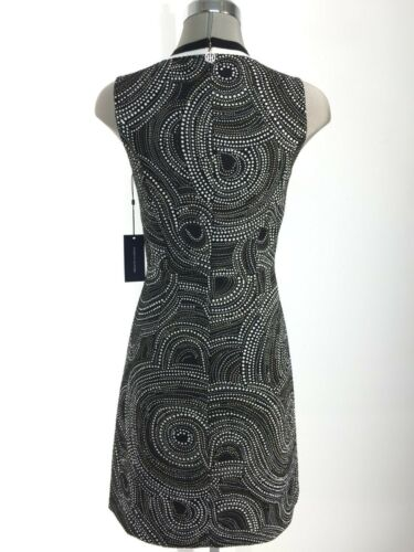 Tommy Hilfiger NWT Beautiful BLACK textured geometrical printed Dress 2 to 18