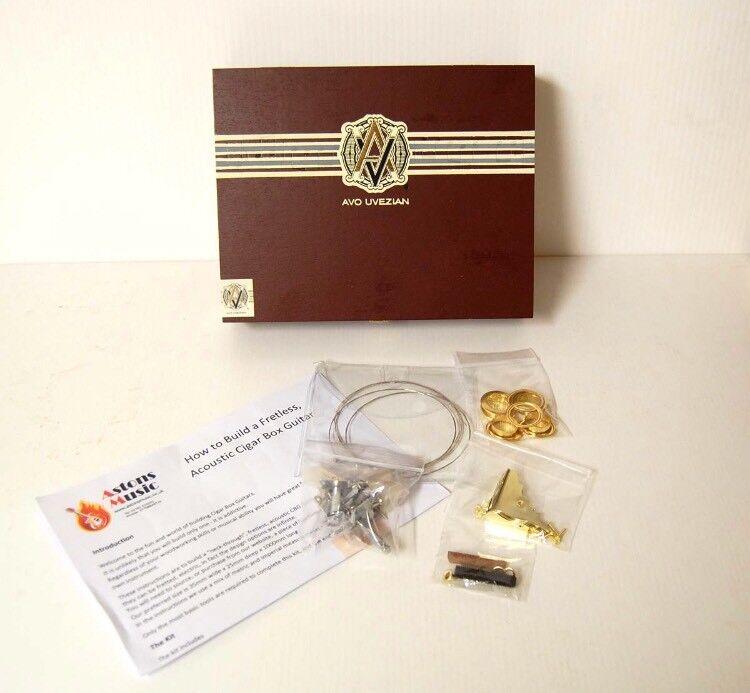 Cigar Box Guitar Kit 3 string Avo Uvezian Box plus components