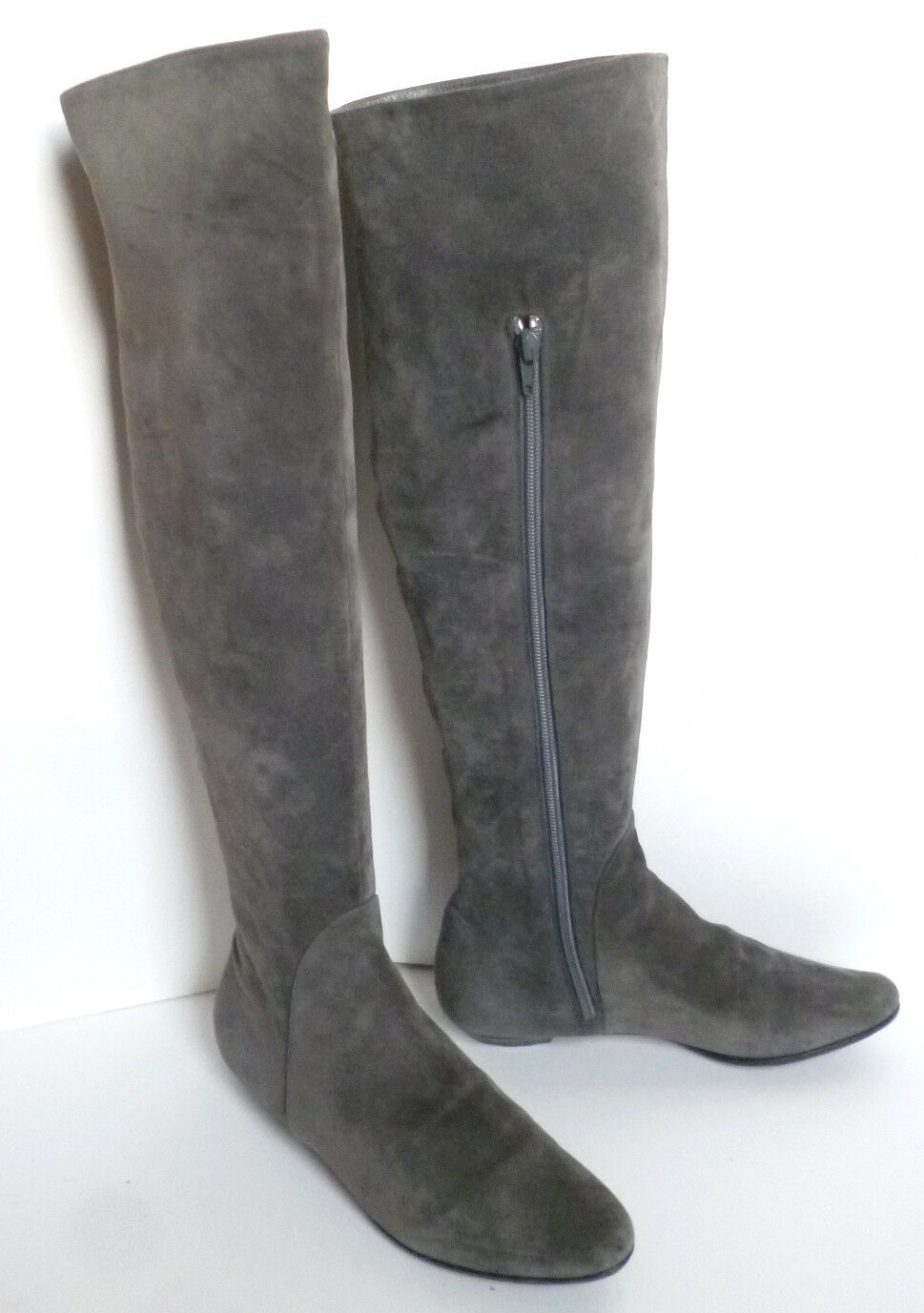 MICHEL PERRY ITALY Gray KNEE Suede Leder OVER THE KNEE Gray Stiefel-36 4ef8df
