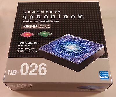 *NEW* NANOBLOCK Building Blocks Nanoblocks Nano NB-026 LED Base Plate USB