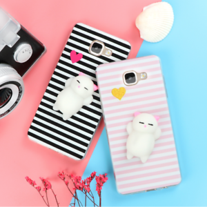 buy online 34df5 dad45 Details about 3D Squishy Cat Silicone Case Cover For Samsung Galaxy Note 8  S8 Plus S7 Edge J5