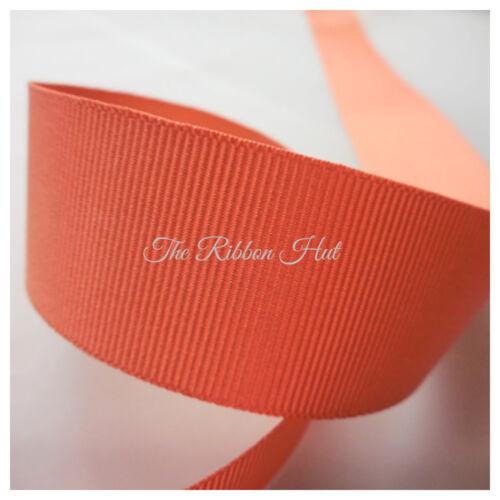 Grosgrain Ribbon-25mm-Berisfords 34 Colours-1M//3M//5M Lengths-Craft,Trim
