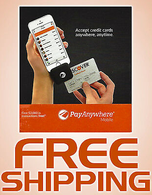 Pay Anywhere Credit Card Reader - Mobile Payments on Smartphones & Tabets - NEW