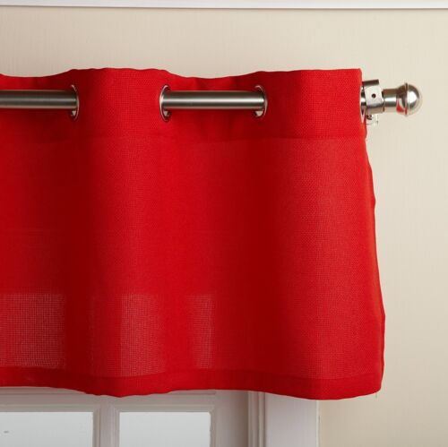Lorraine Grommet Top Red Kitchen Tier Curtain or Valance NEW
