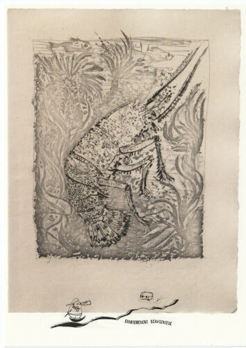 Kunstpostkarte Pablo Picasso Languste