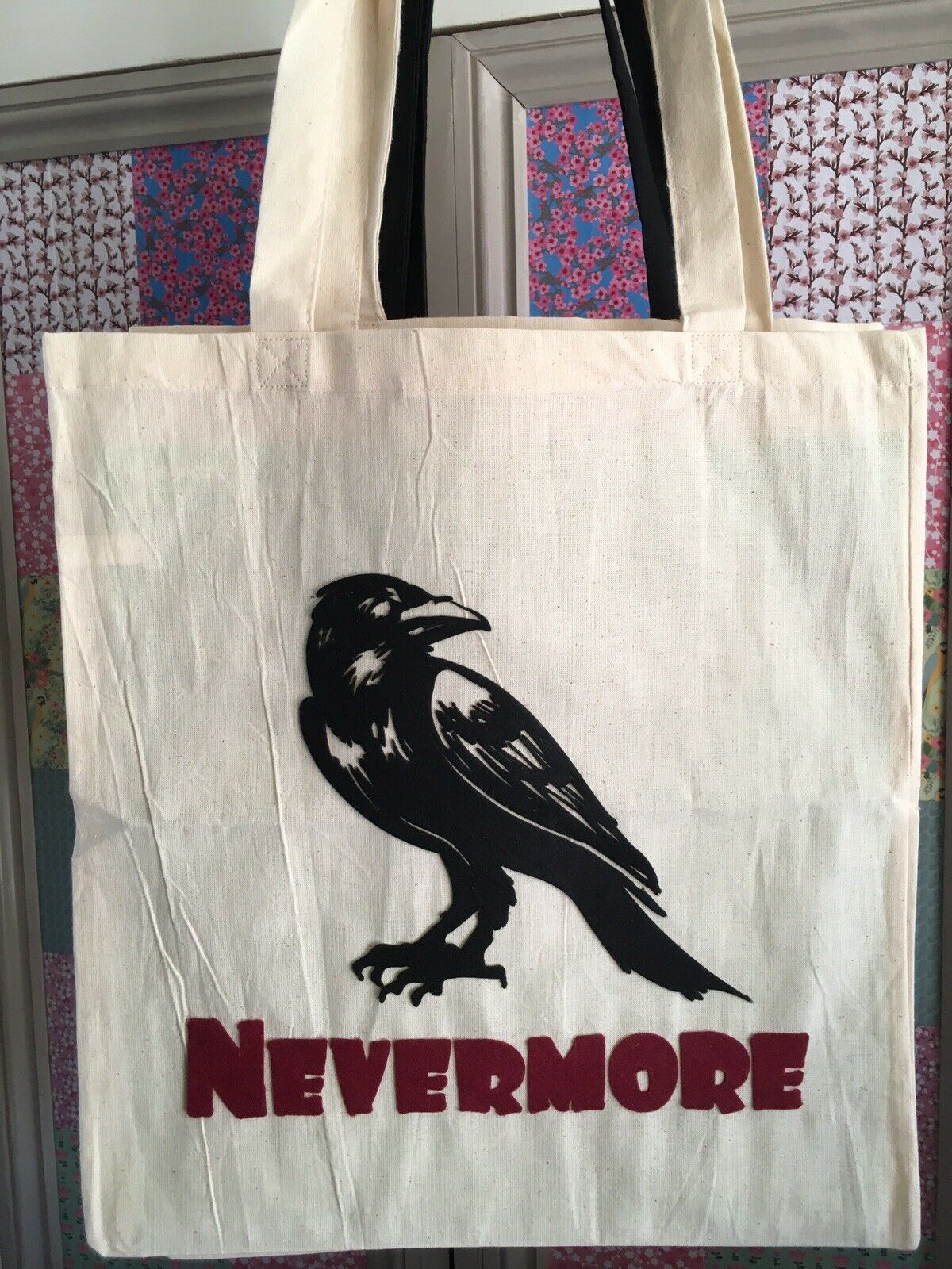 'The Raven' By Edgar Allan Poe - Nevermore Tote Bag Handmade Horror Classic Gift