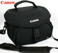 Padded CANON Mid Sz Camera Bag BLACK w/Large Front POCKET Shoulder Strap XLNT!