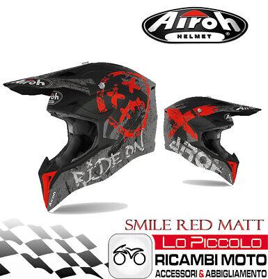 CASCO AIROH WRAAP SMILE RED MATT XL