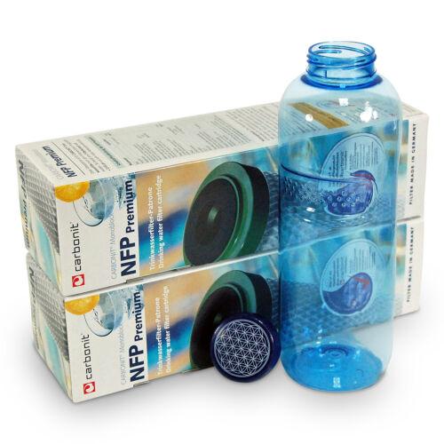 2 x CARBONIT NFP Premium Filtro E 1 x 1 litri flacone per la sete in viaggio