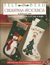 Felt & Bead Christmas Stockings Barbara L.C. Holt Beading Pattern Book NEW OOP
