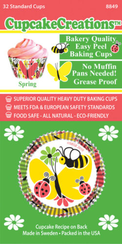 """8849 No Muffin Pan Required Baking Cups /""""Spring/"""" Cupcake Creations"""