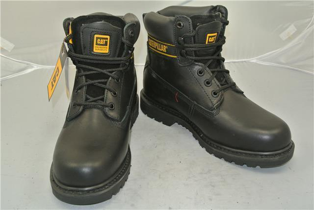 CATERPILLAR BLACK LEATHER ANKLE Stiefel (UK SIZE 8) 8) 8) GOODYEAR WELTED CONSTRUCTION 648225
