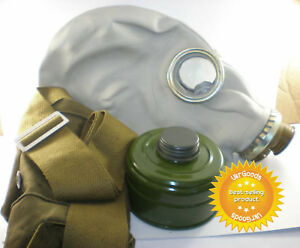 Improved-Full-Set-of-Size-4-Soviet-Russian-Military-Gas-mask-GP-5-Gray-Rubber