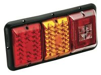 Bargman 84 85 Trailer Rv Triple Tail Light Red &amber Led Incndscnt Backup Black
